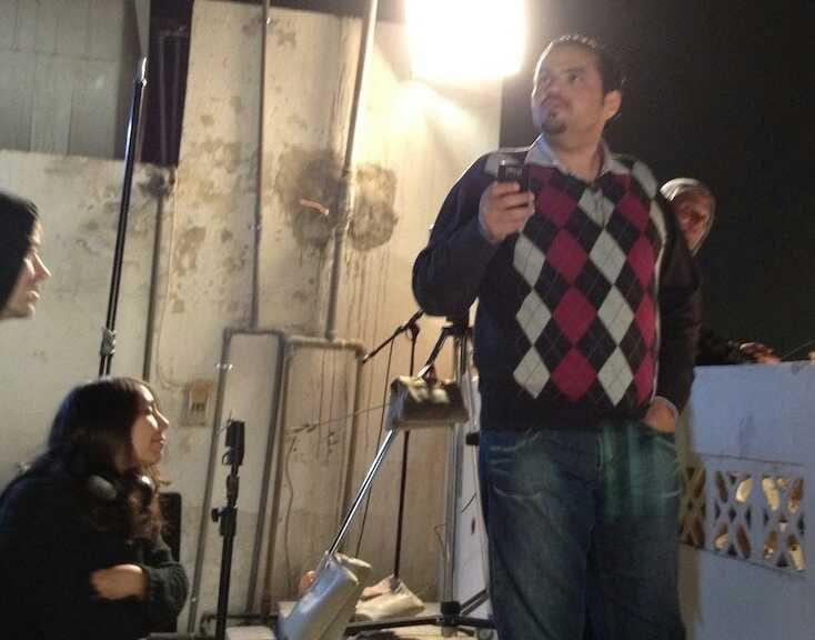 "Amr Alkhtani at the set of ""Wadjda"