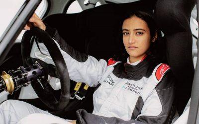 Late comer: Al Juffali first female to car race in Saudi