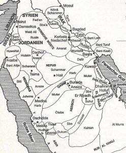 Old Saudi Arabia Map Tribes
